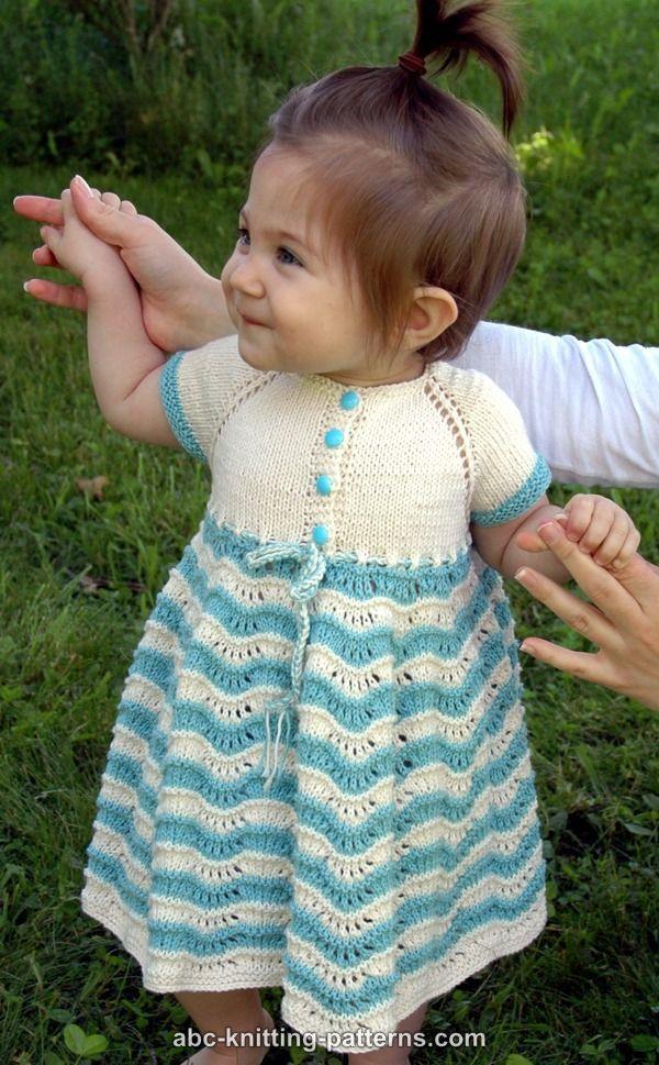 ABC Knitting Patterns - Best Sunday Baby Dress | Knitting for baby ...