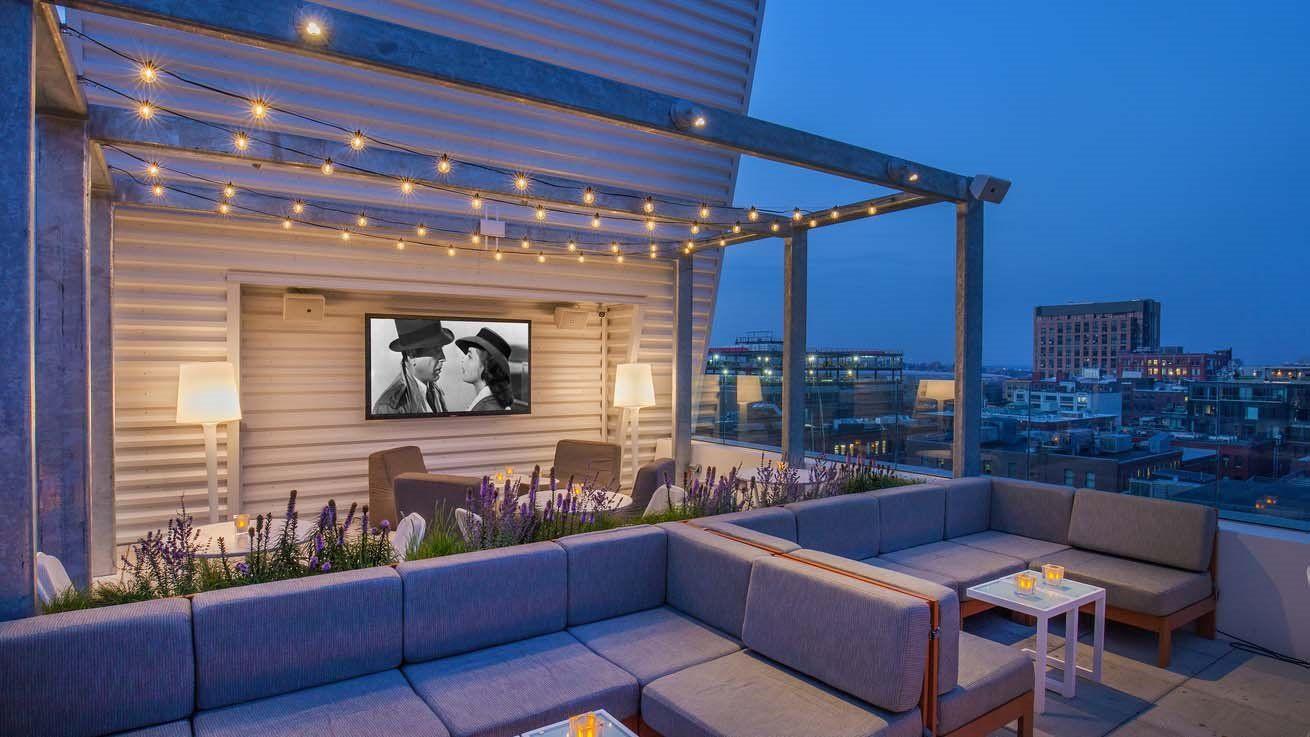 Sky Lounge Rooftop Terrace Seaport Boston Bar Yotel