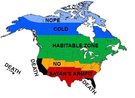 A Accurate Map Of North America As Drawn By A Canadian - Map of north america and canada
