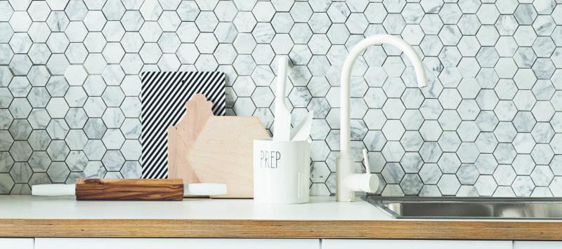 Polygon Kitchen Tiles Cuisine Dreams Kitchen Tiles