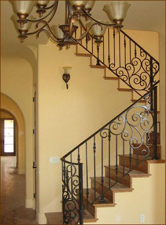 80 Staircase Railing Remodeling Redesign Ideas For Your Cozy Home Decorating Ideas Home Decor Ideas And Tips Iron Stair Railing Wrought Iron Stair Railing Iron Staircase Railing