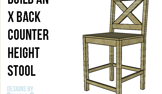 Diy Furniture Plans To Build X Back Counter Height Stools