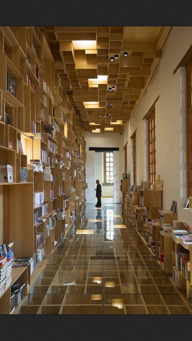 Library Architecture, Bookstore design, Interior