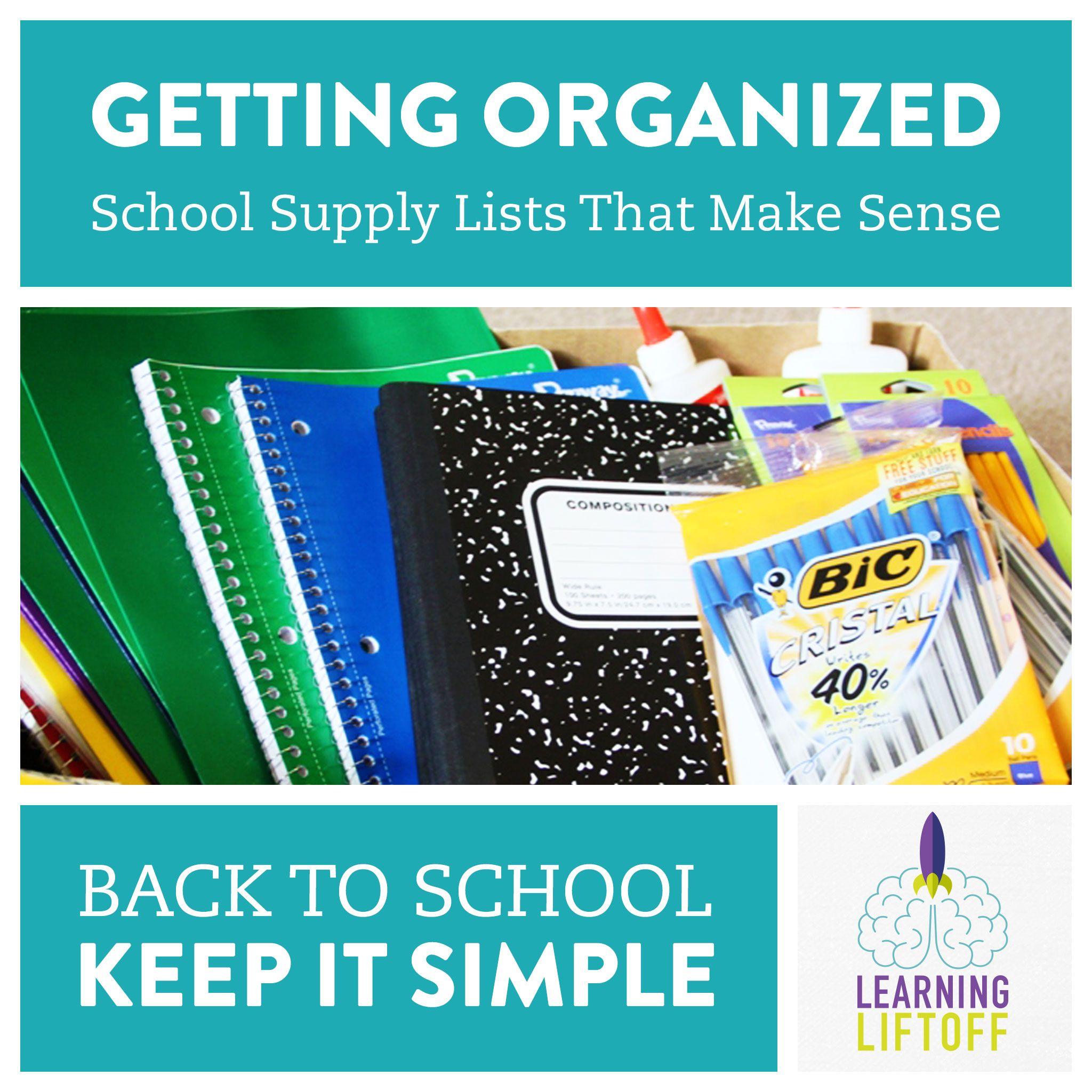 Back to School: School Supply Lists that Make Sense | Back