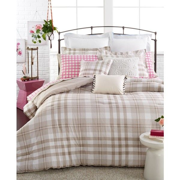 e145f67979661 Tommy Hilfiger Range Plaid Twin Twin Xl Comforter Set (110 CAD) ❤ liked on  Polyvore featuring home