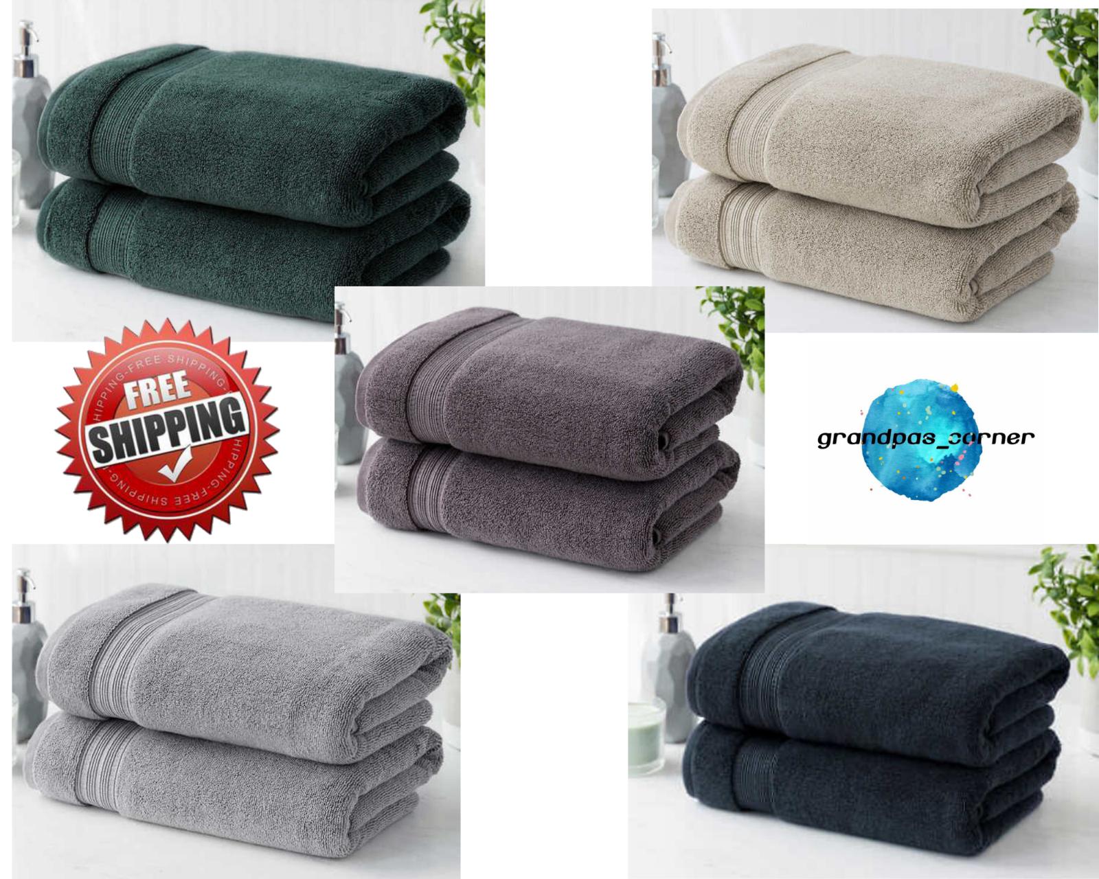 Bath Towel Set 2 Piece 100 Hygro Cotton Soft Absorbent Bathroom
