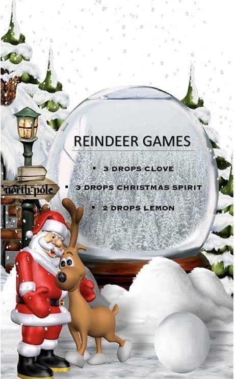 Reindeer Games Diffuser Blend  Enjoy messy free reindeer games with this diffuser blend!