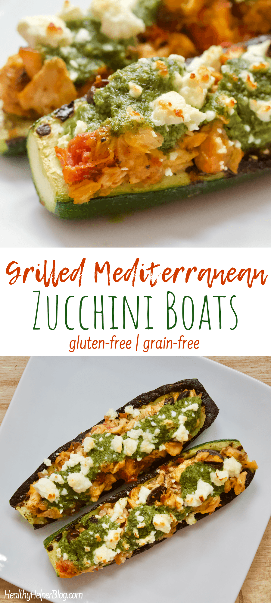 Grilled Mediterranean Zucchini Boats Summertime Means It S Grilling Season Fire Up The Grill And Escape To A Mediterranean O Zucchini Boats Healthy Zucchini