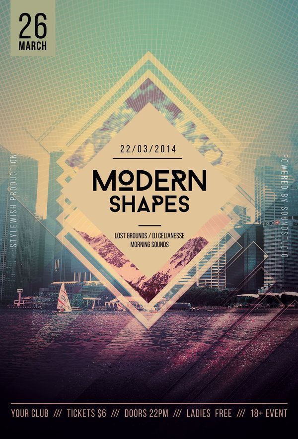 Modern Shapes Flyer  Psd Templates Modern And Graphics