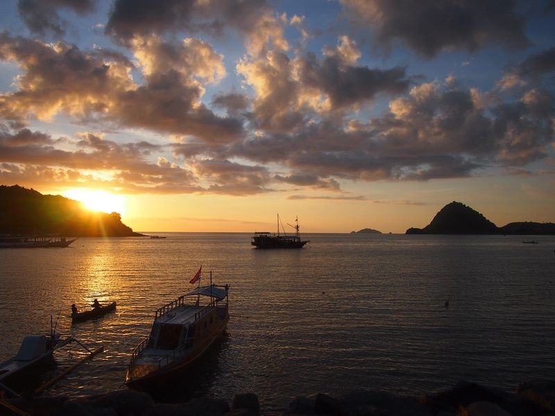 Sunset over Labuan Bajo Flores, Indonesia.