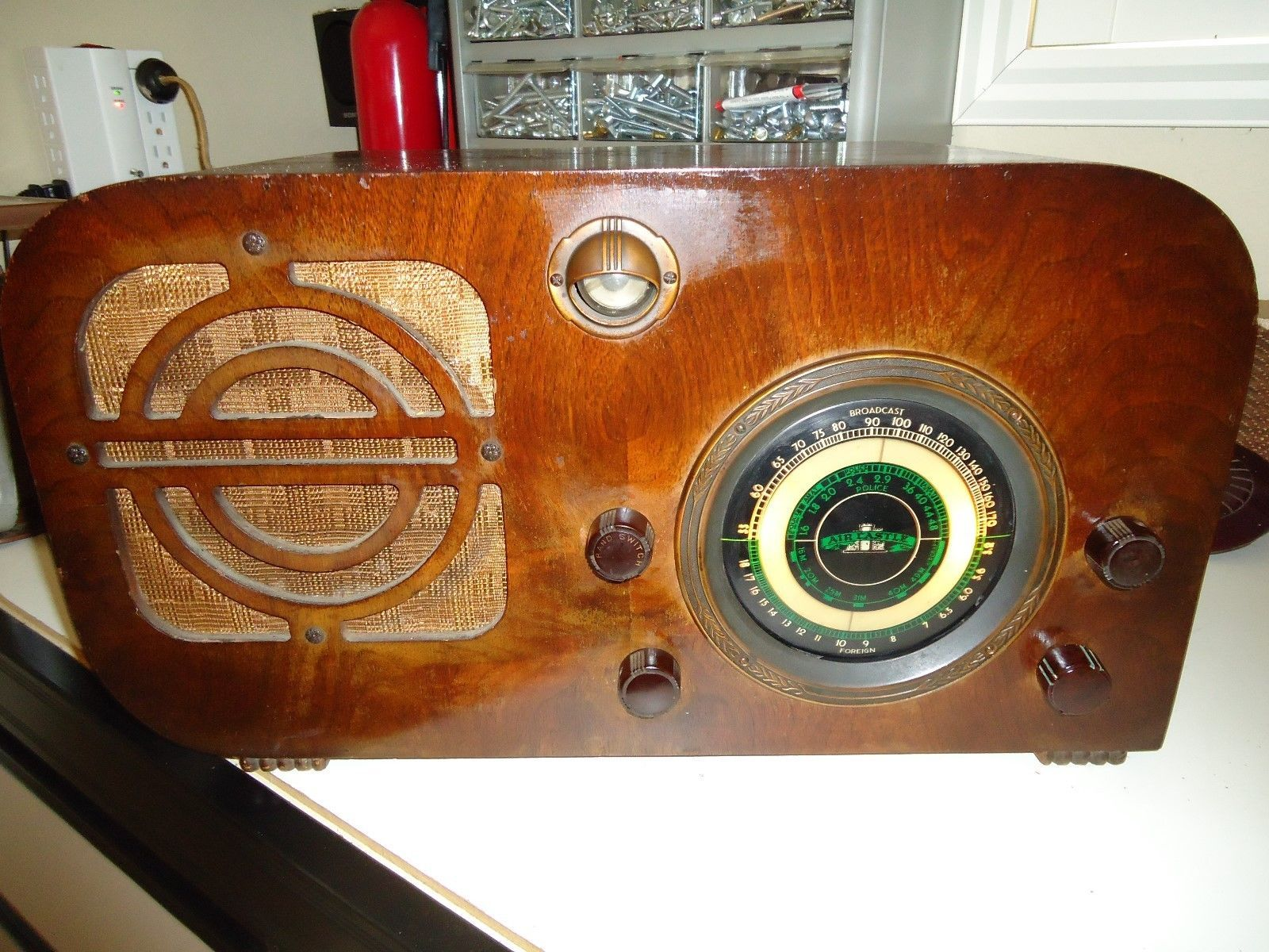 Aircastle Model A-31 Wooden Working Antique Radio | Vintage radios ...