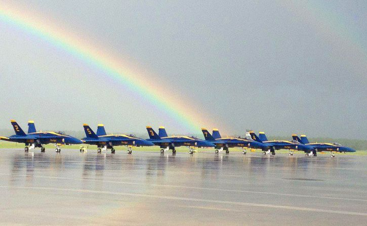 Blue Angels at the end of the rainbow!