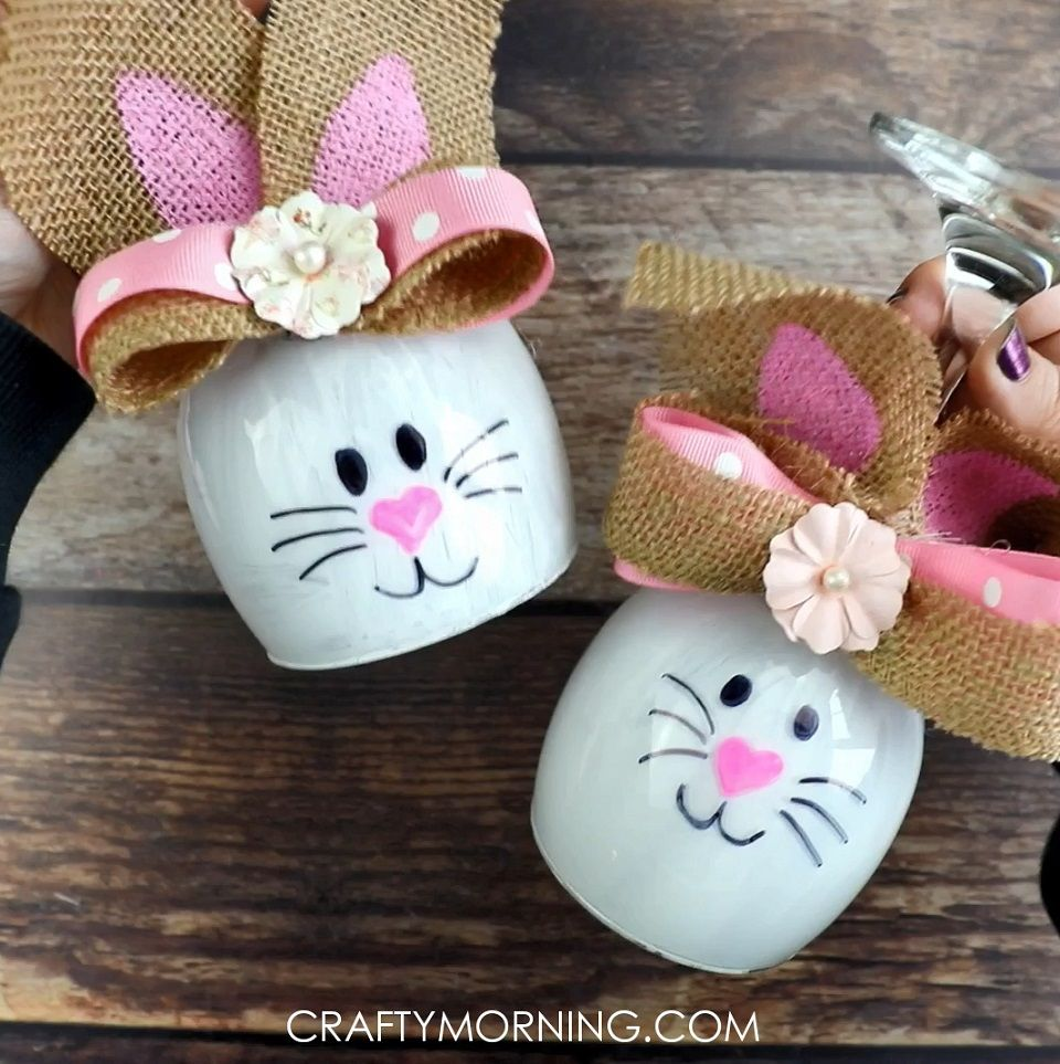 Wine Glass Bunny Candle Holders - Crafty Morning