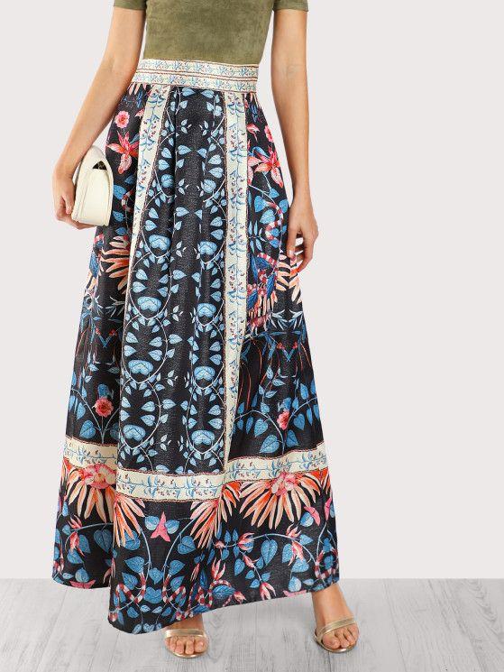 Selected Printed - Maxi Skirt EG6iSdw