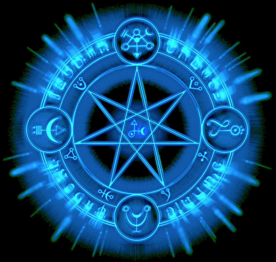Blue Rune by DeathNinja07   Magic circle, Runes, Magic symbols