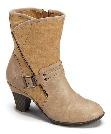 Loving this Nude Belle Ankle Boot on #zulily! #zulilyfinds