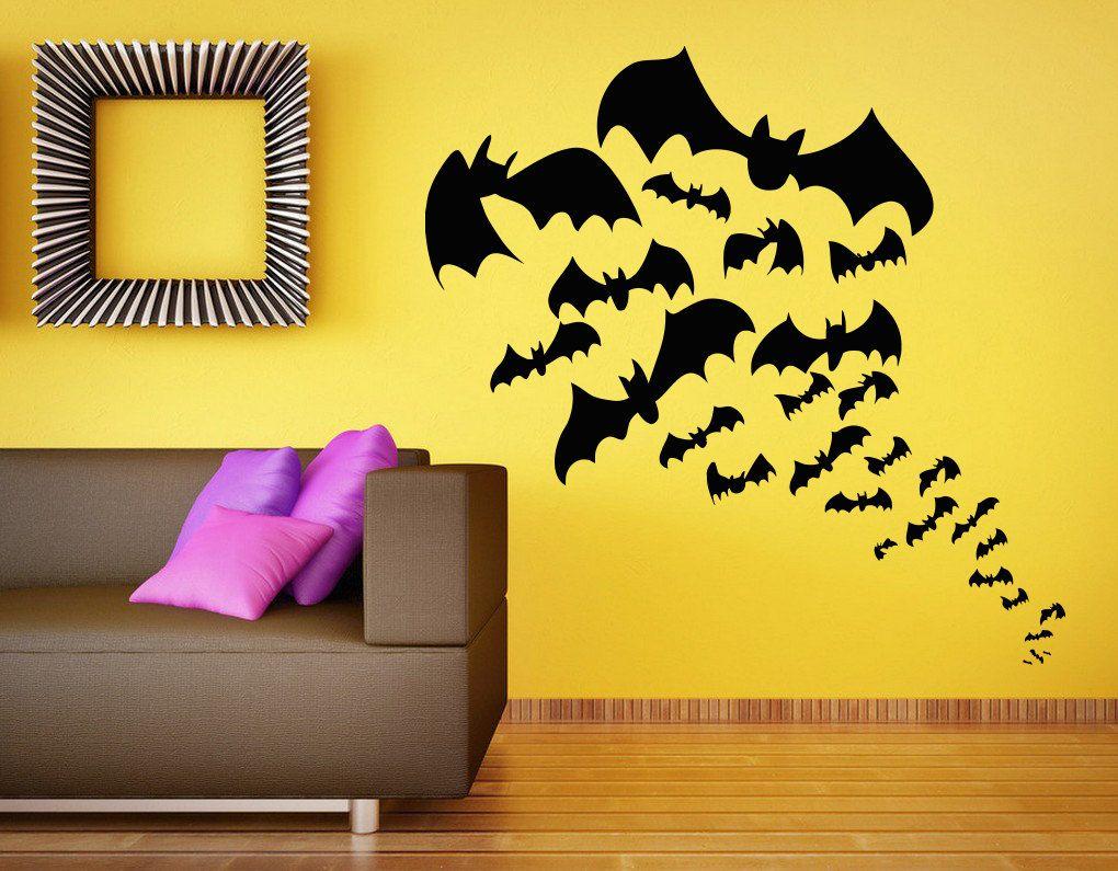 Wall Vinyl Sticker Decals Mural Room Design Pattern Art Decor Bat ...