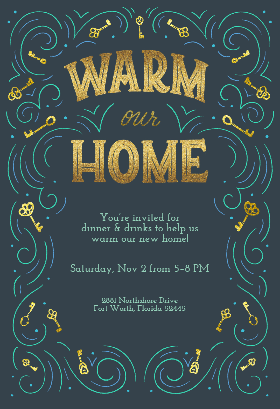 Warm Our Home Housewarming Invitation Template Free Greetings Island House Warming Invitations Housewarming Invitation Templates House Warming