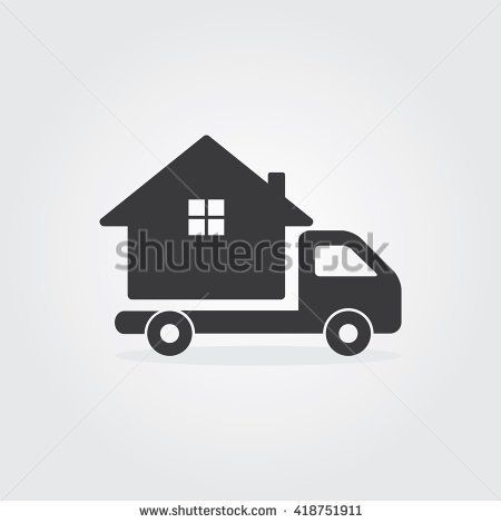 House Mover Logo Template Design. Moving home concept. A truck transporting a house. icon. Vector Illustration.