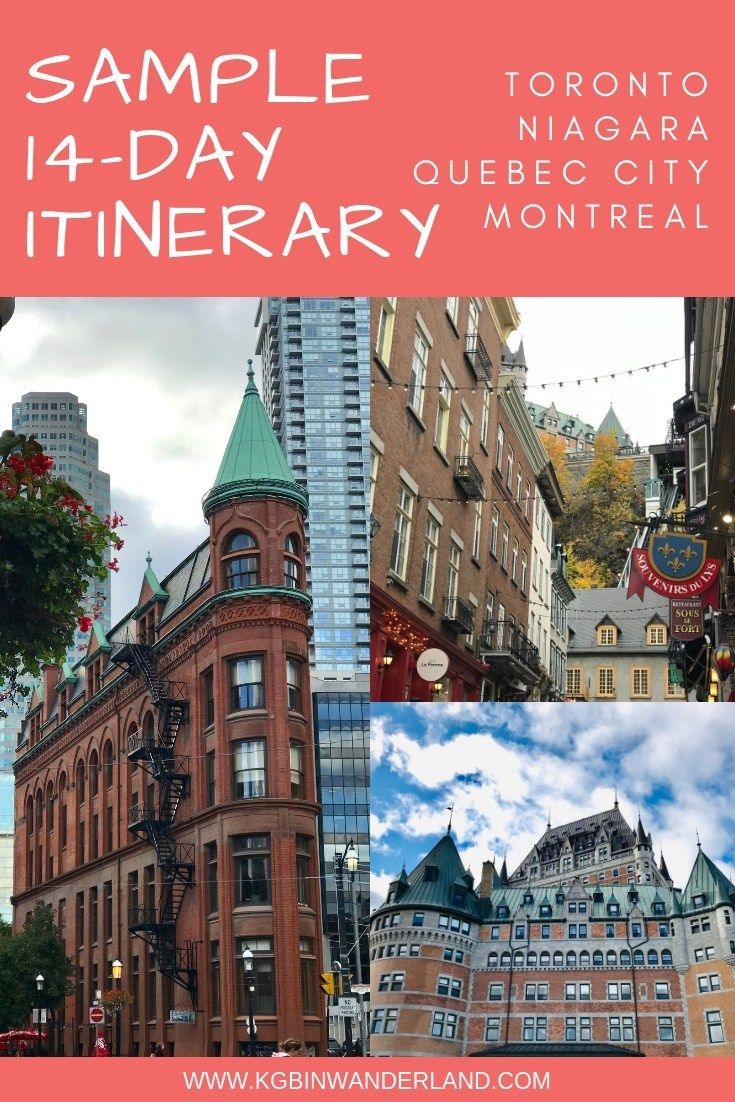 Toronto Quebec City And Montreal Itinerary Quebec City Canada