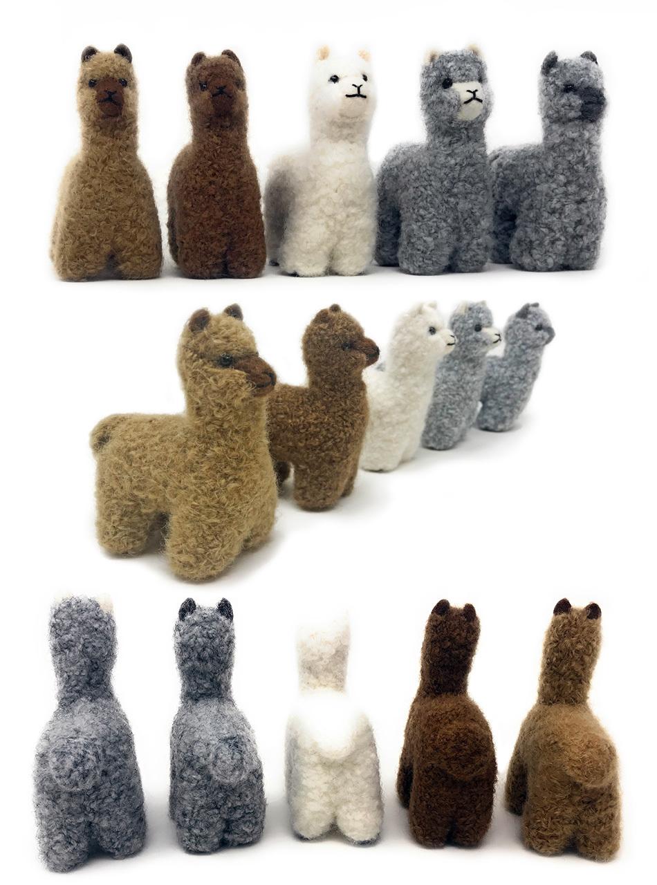 "5"" Needle Felted Alpaca Figures - Baby Alpaca"