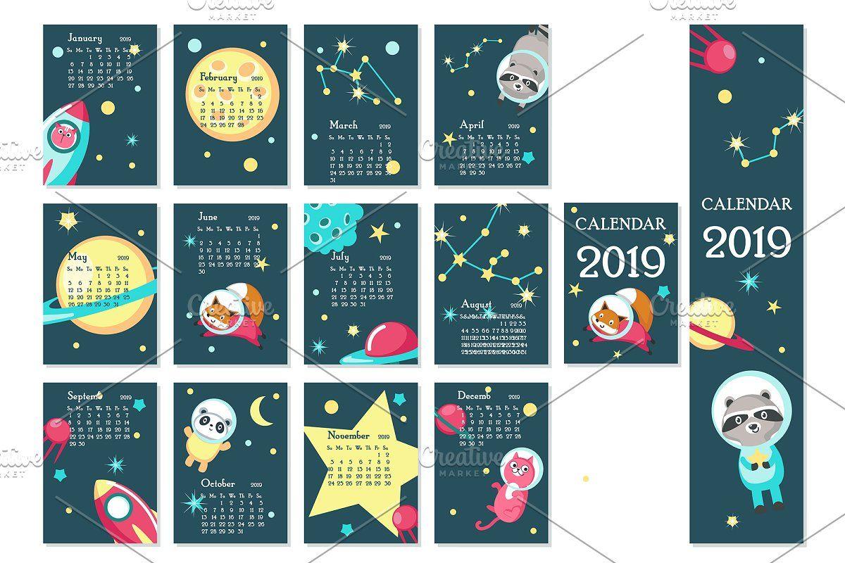 Space calendar animal austronauts in 2020 Space animals