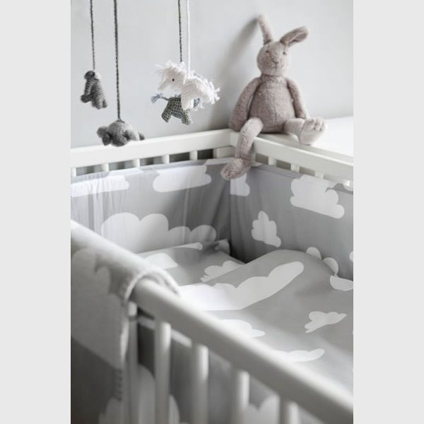 Farg & Form | Bedbumper Wolk Grijs - Baby | Pinterest