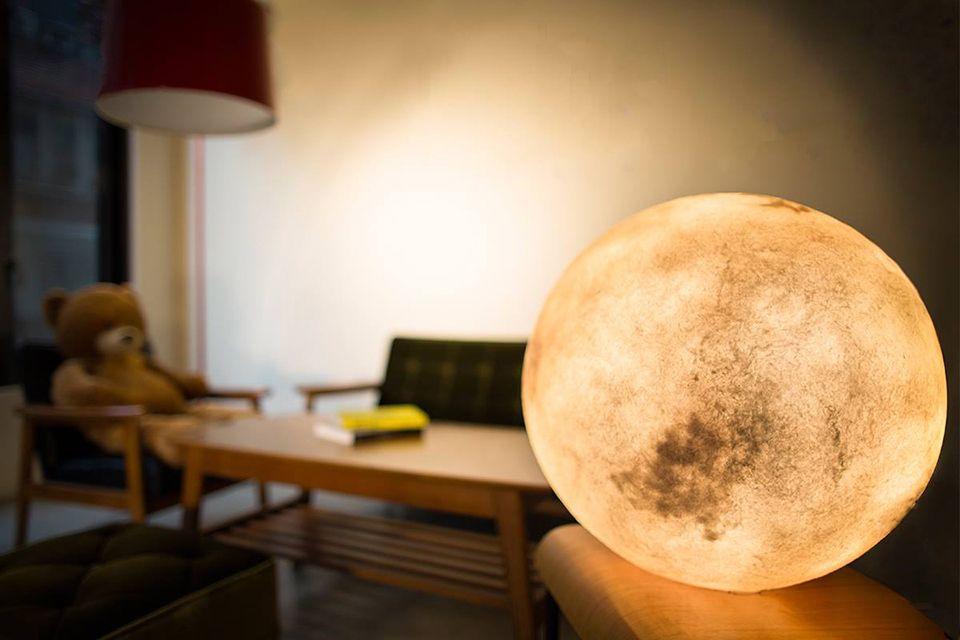 Acorn Studio Luna Moon Lamp 5 Design Pinterest