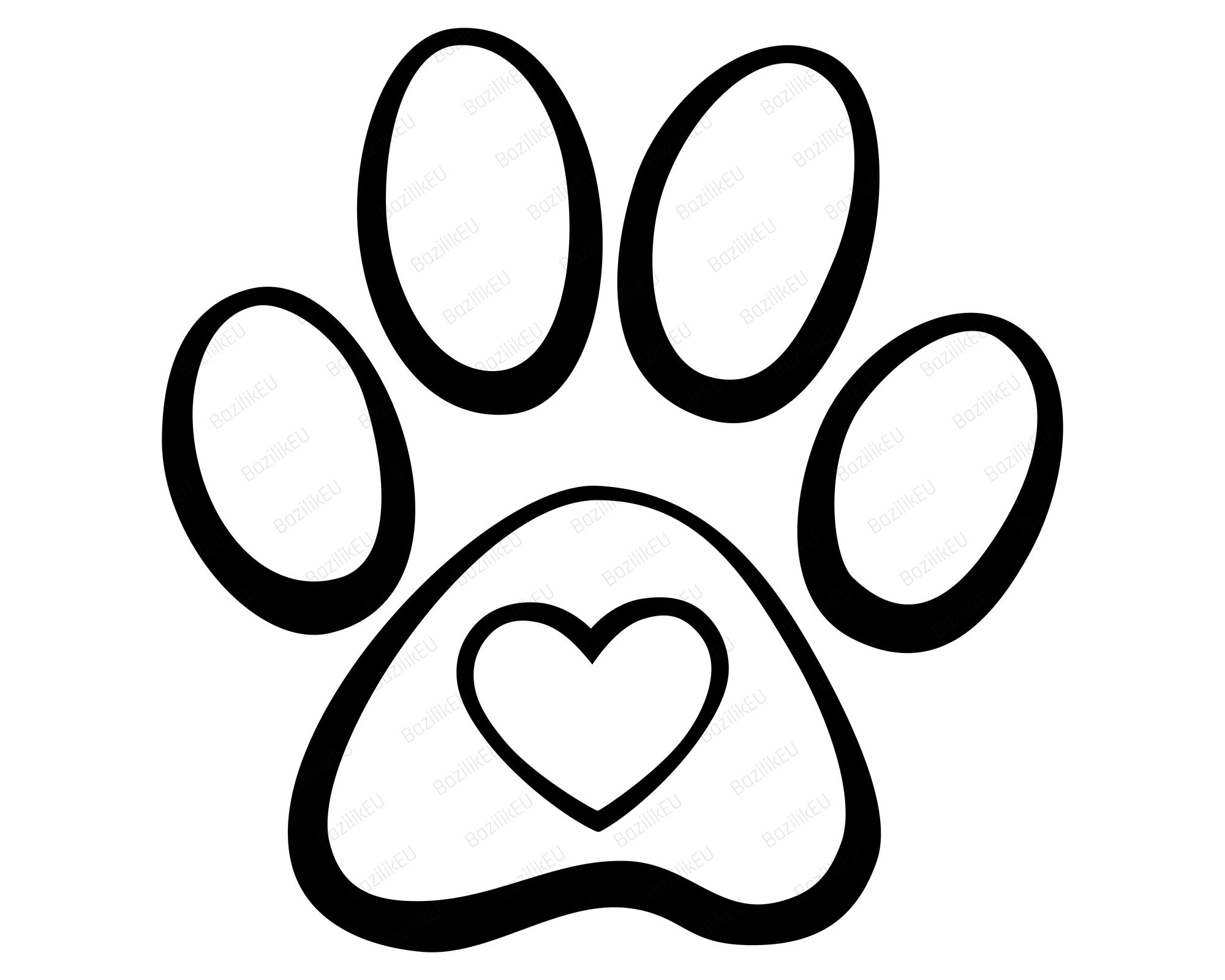 Download Heart Paw Print SVG, Dog Paws, Pet Paw Print SVG, Dog Love ...