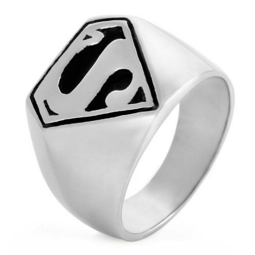 Stainless Steel Black Spiral Triangle Fancy Ring