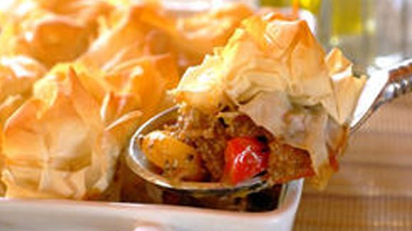 Cape Malay Mince and Phyllo Pie