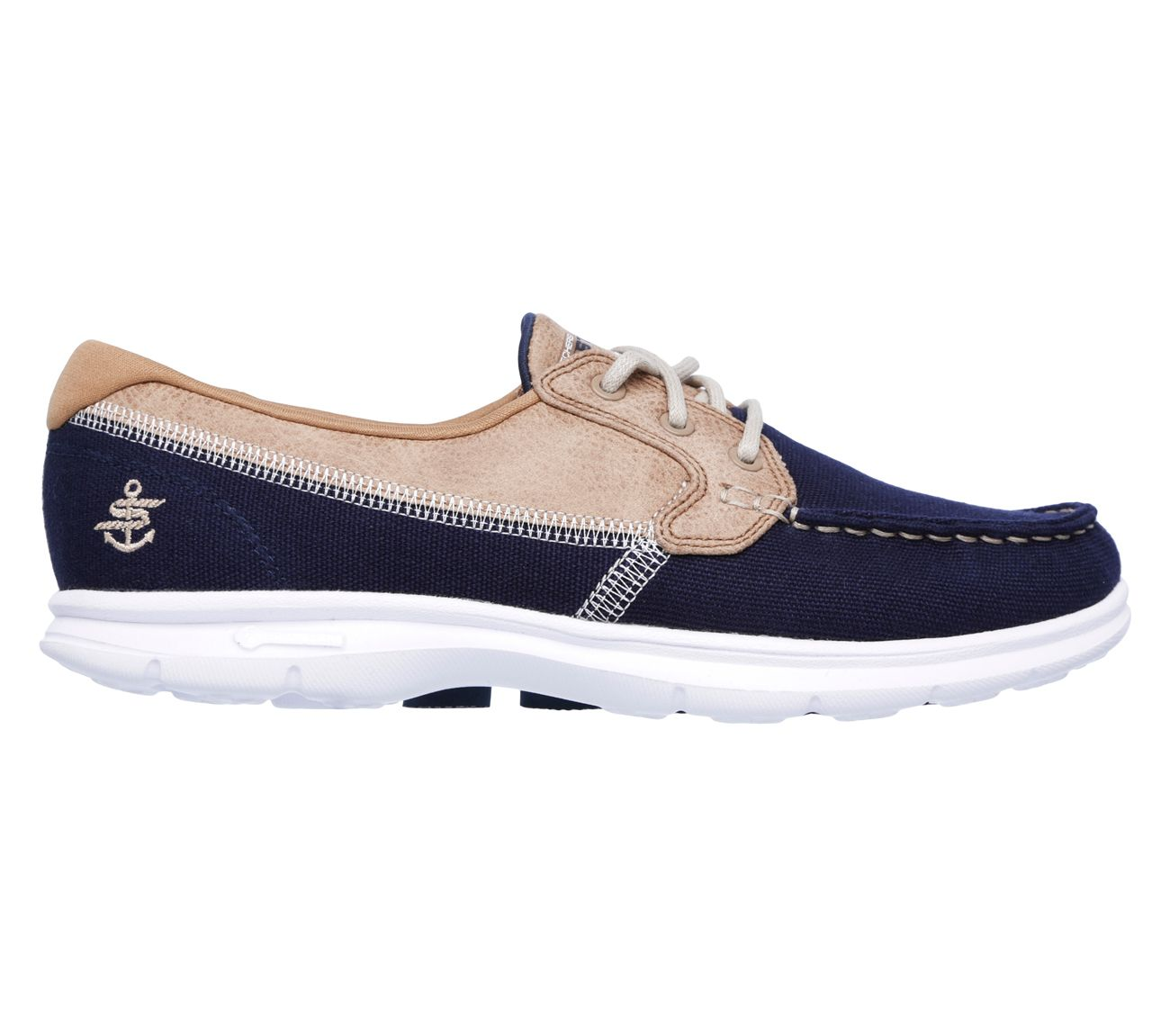 Go Step Seashore Skechers Boat Shoes Leather