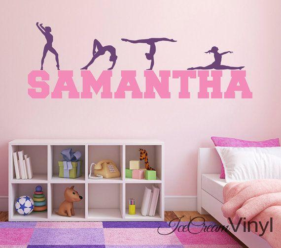 Gymnast Gymnastic Girls Bedroom Door Wall Laptop Art Vinyl Sticker Car Decal