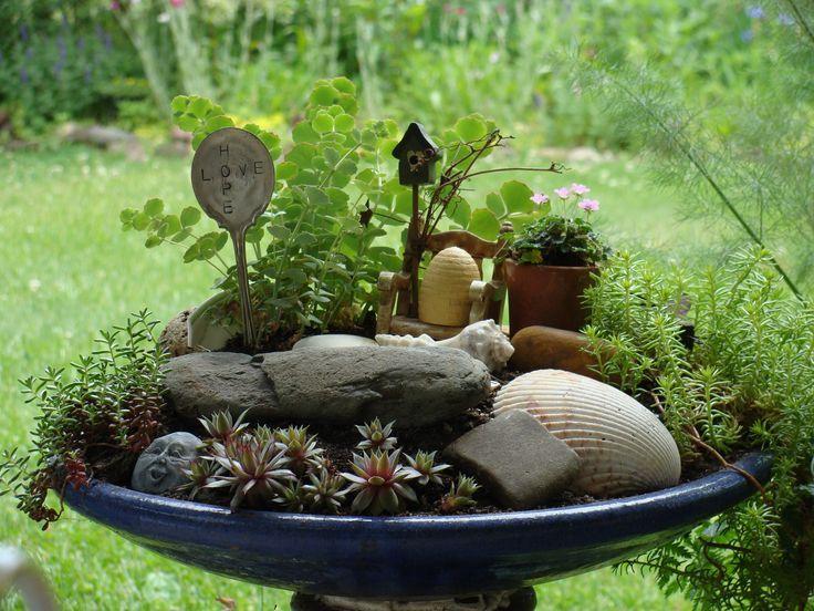 Garden Bird Bath | Fairy Garden Bird Bath | Decor