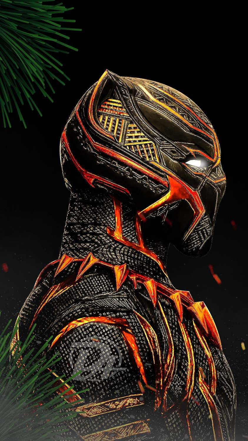 Black Panther Red Suit iPhone Wallpaper Marvel wallpaper
