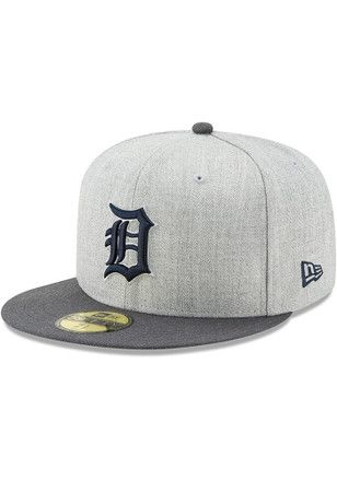 more photos f6b6d 96b29 Detroit Tigers New Era Mens Grey Heather Action Fitted 59FIFTY Fitted Hat
