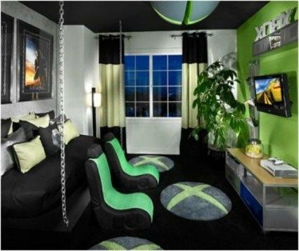 R Chairs And Xbox Pillow Man Cave Ideas Small Room Boy