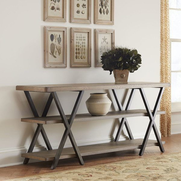 Diy Double X Console Table Remodelaholic With Images