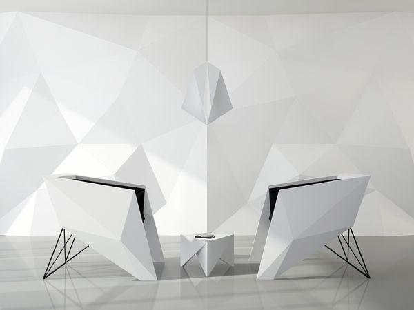F 117 Armchair Design By Svyatoslav Boyarincev Origami Furniture Chair Futuristic
