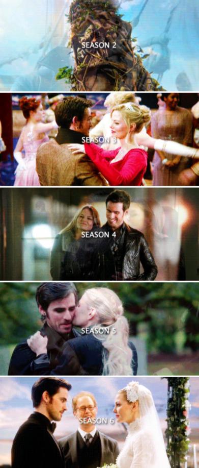 Emma and Killian through the seasons #CaptainSwan ❤️