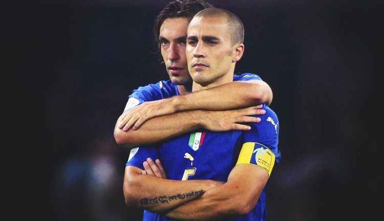 Two legends: Pirlo and Cannavaro | Football, Olahraga, Badminton