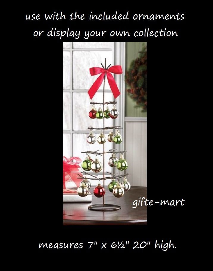 metal wire twig branch Christmas tree retail display stand holder & ornaments #genericornamentchristmasdisplay