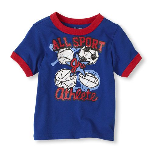 Happy 1st Birthday Grandson All Sport Graphic Tee Baby Boy ShirtsBaby