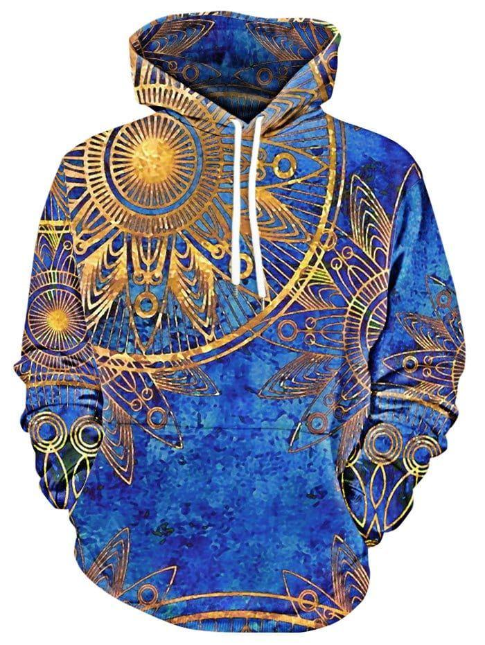 Kangaroo Pocket Maya Totem Print Hoodie | Bedruckte hoodies
