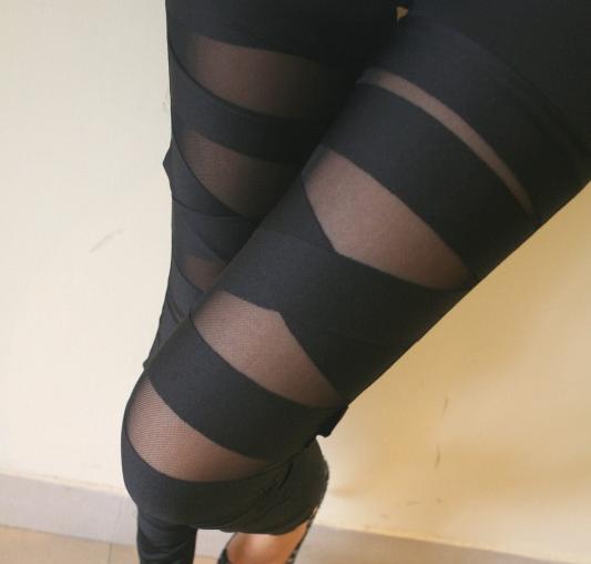 Sexy Black Bundle Pattern Leggings
