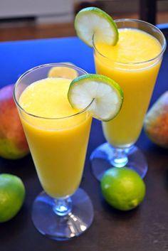 Daiquiri De Mango Thermomix Daiquiri Bebidas Congeladas Mojito De Mango