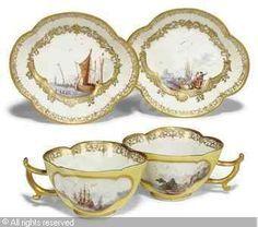 MEISSEN Tea cups with saucers / B.