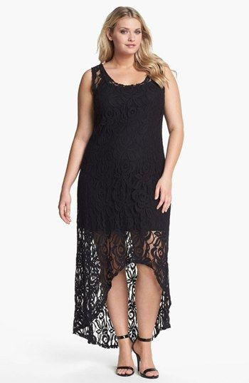 LOVEAPPELLA Lace High/Low Maxi Dress (Plus Size) available at #Nordstrom