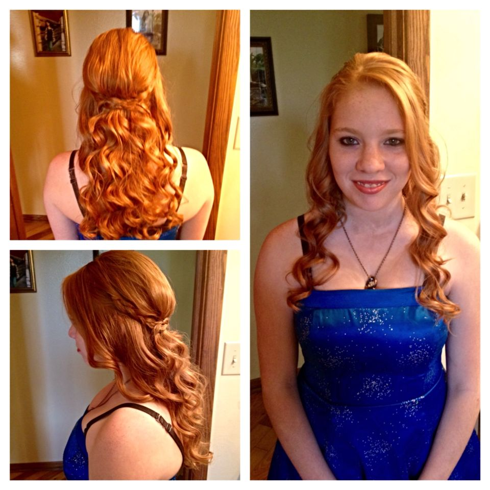 Homecoming formal hair