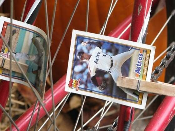 Baseball Cards On Bicycle Spokes Google Search Vintage